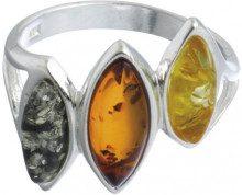 Nature d'Ambre 3111120 - Anello da donna, argento 925/1000 e ambra, Argento 925/1000, 18, cod. 311112058