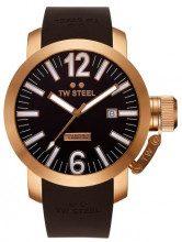 TW Steel TWA-101 - Orologio da polso unisex, cinturino in pelle colore marrone