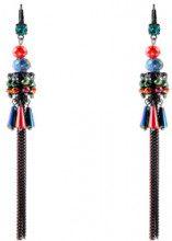 Orecchini pendenti Sagar Winter Color - rodio - cristalli - multicolore - Lunghezza: 12 cm