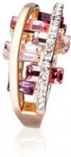 Anello ''Pedrarosa'' - cristalli - color oro - larghezza inserto: 1.2 cm