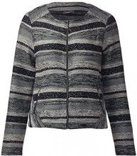 Street One 311637, Cardigan Donna, Multicolore (Black 30001), 50