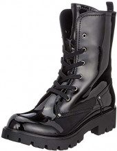 Buffalo Skylight Pu Shiny, Stivali Combat Donna, Nero (Black 01 00), 40 EU