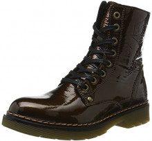 Bullboxer Lace-up Boots, Stivali Militari Donna, Marrone (Brown), 37 EU