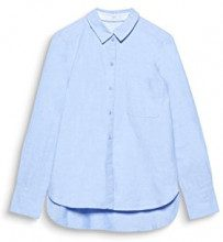 edc by Esprit 107cc1f003, Camicia Donna, Blu (Light Blue 440), Medium