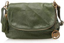 Chicca Borse Cbc3308tar, Borsa a Spalla Donna, Verde, 5x22x28 cm (W x H x L)