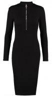 MONICA                      - Vestito di maglia - black