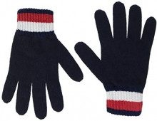 Tommy Hilfiger Corporate Chunky Gloves, Guanti Donna, Blu (Tommy Navy 413), Unica (Taglia Produttore: OS)