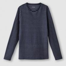T-shirt a righe con maniche lunghe