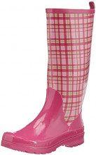 Playshoes Trendiger Damen Gummistiefel Karo, Stivaletti Donna, Rosa (Pink (Rose 14), 37 EU