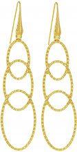 Orecchini ovali in bronzo dorato per Donna