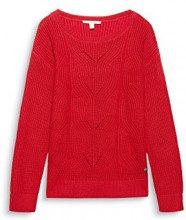 ESPRIT 098ee1i001, Felpa Donna, Rosso (Red 630), Large