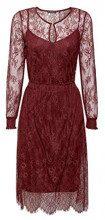 ESPRIT Collection 118eo1e025, Vestito Donna, Rosso (Bordeaux Red 600), 44 (Taglia Produttore: 38)