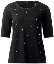 Street One 311701, T-Shirt Donna, Nero (Black 10001), 46