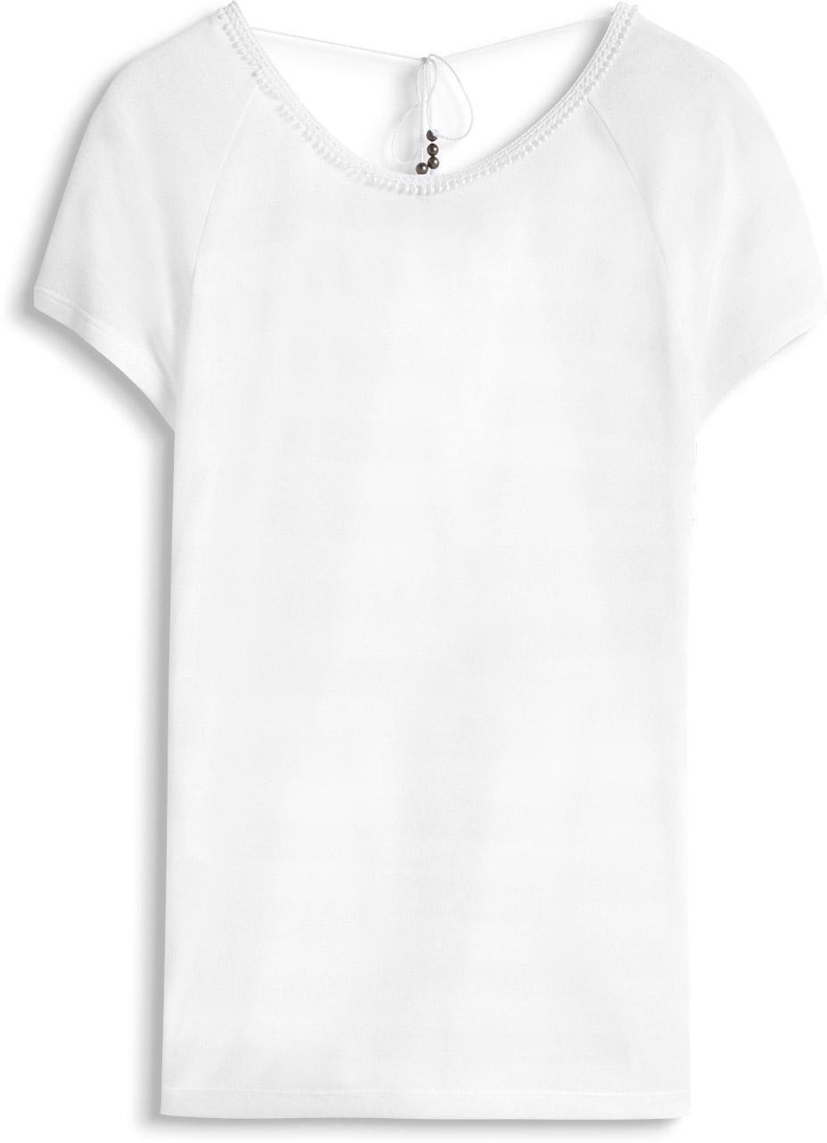 046cc1k014 T white Shirt Bianco Edc Esprit Open Donna 100 By Back xqwwfzEX