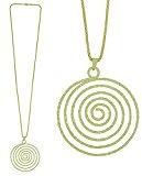 Collana lunga fantasia in metallo dorato–Ciondolo Spirale