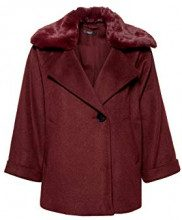 ESPRIT Collection 118eo1g013, Giacca Donna, Rosso (Bordeaux Red 600), Large