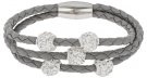 TRICE - Bracciale - silver/crystal/light grey