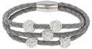 TRICE - Bracciale - silver/crystal/light grey