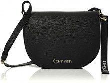 Calvin Klein Jeans Neat Medium Saddle Bag - Borse a tracolla Donna, Nero (Black), 5x20x25 cm (B x H T)