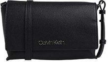 Calvin Klein Tack Med Flap Crosbody - Borse a tracolla Donna, Nero (BLACK), 6x22x15 cm (B x H T)