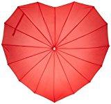 Ombrello a cuore non pieghevole Rob McAlister, rosso