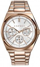 Esprit - Orologio da Polso Analogico, da Donna, Cinturino in Acciaio Inossidabile, Oro Rosa