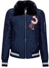 edc by Esprit 108cc1g007, Giacca Donna, Blu (Navy 400), Large