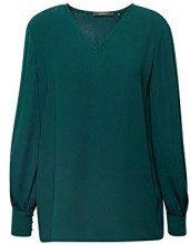 ESPRIT Collection 098eo1f013, Camicia Donna, Verde (Bottle Green 385), 44 (Taglia Produttore: 38)