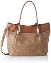 SwankySwans Suzie Faux Leather Handbag - Borse Tote Donna, Marrone (Brown), 12x30x28 cm (W x H x L)