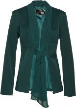 Blazer con collo a scialle in chiffon