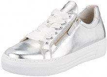 Gabor Shoes Comfort Basic, Scarpe Stringate Derby Donna, Grigio (Argento), 41 EU