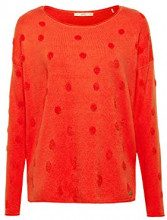 edc by Esprit 098cc1i004, Felpa Donna, Rosso (Red 4 633), X-Large
