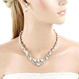 Ever Faith artificiosamente Perl cristallo elegant collana orecchino gioielli Set