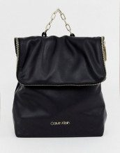 Calvin Klein - Zaino con risvolto e catena