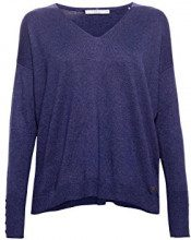 edc by Esprit 078cc1i005 Felpa Donna, Blu (Navy 400) Small