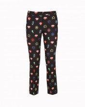 Pantalone Capri Con Motivi Multicolor