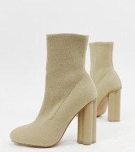 Eliza - Stivali a calza in maglia con tacco