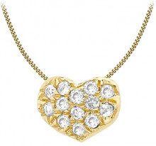 Carissima Gold Collana con Pendente da Donna in Oro Giallo 9K (375) con Diamante 0.05ct, 46 cm