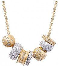 Swarovski Kauri Collana con Ciondolo da Donna, Placcato Oro, Cristallo, Bianco