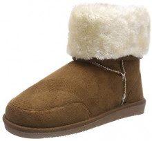 PIECES Psdevan Winter Boot, Stivali Arricciati Donna, Marrone Cognac, 39 EU