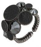 PLANET RIVER  - Anello - black antique silver