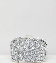 Pochette decorata argento glitter