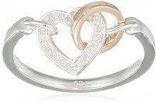 Thomas Sabo D_TR0033-095-14-56 Anello intrecciato da fidanzamento, Argento 925, Diamante