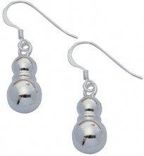 Adara-Orecchini pendenti a forma di 2 sfere, in argento