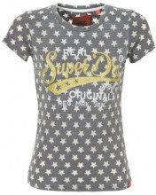T-shirt Superdry  BURN OUT STAR AOP ENTRY TEE