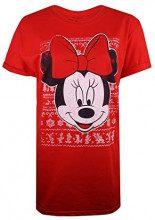 Disney Minnie Intarsia, T-Shirt Donna, Rosso Red, 48 (Taglia Produttore: X-Large)