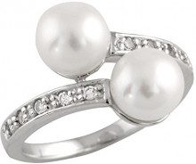 Bella Pearls Donna FINERING, argento, 54 (17.2), cod. RS-09-N
