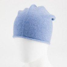 Berretto - 100% cachemire - azzurro