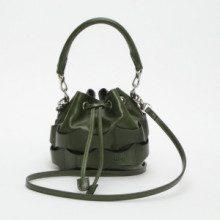 Borsa a secchiello Judas Pedrera mini - pelle - verde - 14 x 14,5 x 12 cm