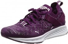 Puma Ignite Evoknit Lo, Scarpe Sportive Outdoor Donna, Viola (Dark Purple-White-Black), 40.5 EU